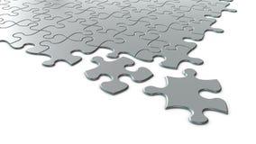 puzzle d'argento 3D Fotografie Stock