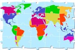 Puzzle d'atlas Photos libres de droits