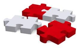 puzzle 3d avec les morceaux absents sur le blanc, perspective Photographie stock libre de droits