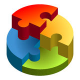 Puzzle 3D chart Stock Photos