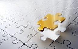 puzzle d'or de partie illustration stock