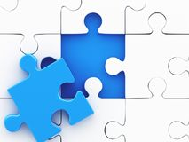 puzzle 3D denteux Concept de créativité d'affaires Image libre de droits