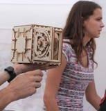 puzzle 3D en bois tridimensionnel Photo libre de droits