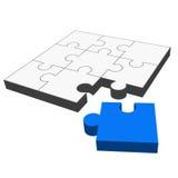 Puzzle 3D - it fits! Stock Photo