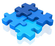 The puzzle Stock Images