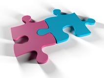 Puzzle d'homme et de femme Images stock