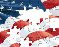 Puzzle d'indicateur des USA Images libres de droits