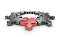 Puzzle 3D. Innova il concetto.  Fotografie Stock