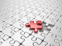 Puzzle 3D. Innovate business Stock Photos