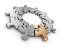 Puzzle 3D. Innovate concept.  Stock Photography