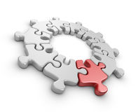 Puzzle 3D. Innovate concept.  Royalty Free Stock Photos
