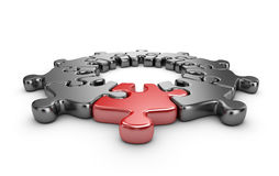 Puzzle 3D. Innovate concept.  Stock Photos