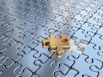 Puzzle 3D. Innovate, differentiate business Royalty Free Stock Photo
