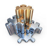 Puzzle 3D. Innovate, team work concept.  Royalty Free Stock Images