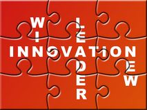 Puzzle d'innovation Photos stock