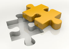 Puzzle - 3D Royalty Free Stock Photo