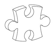 Puzzle 3d silhouette vector symbol icon design. Royalty Free Stock Image