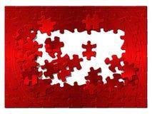Puzzle da metallo rosso. Immagini Stock Libere da Diritti