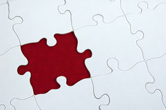 Puzzle - Dar Red royalty free stock photo