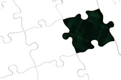 Puzzle - Dark Green Stock Image