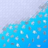 Puzzle de émiettage se composant de différents chiffres sur un dos de bleu Photos libres de droits