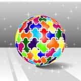 Puzzle de boule Image libre de droits