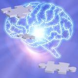 Puzzle de cerveau illustration stock