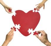 Puzzle de coeur Images libres de droits