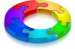 Puzzle de couleur illustration de vecteur