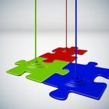 Puzzle de couleurs Images libres de droits