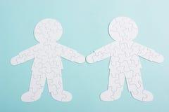 Puzzle de couples des rapports Photo libre de droits