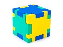 Puzzle de cube Image libre de droits