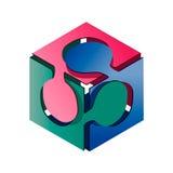 Puzzle de cube Image stock