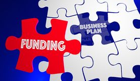 Puzzle de démarrage de Funding Business Plan New Company Images libres de droits