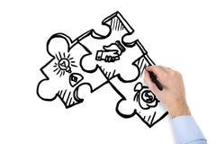 Puzzle de dessin de main Photo stock