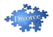 Puzzle de divorce Image libre de droits