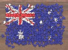Puzzle de drapeau d'Australie illustration de vecteur