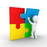 Puzzle de finissage de personne Image libre de droits