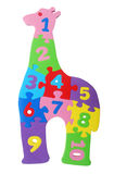 Puzzle de giraffe Images libres de droits