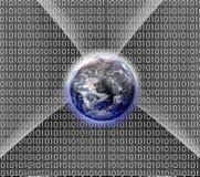 Puzzle de globe sur le fond abstrait Photo libre de droits