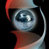 Puzzle de globe sur le fond abstrait Photos stock