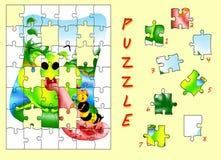 Puzzle de grenouille Image libre de droits