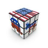 Puzzle de jour d'élection Photo libre de droits
