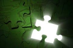 Puzzle de l'électronique Photo stock