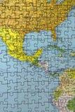 Puzzle de l'Amérique Centrale Images stock