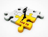 Puzzle de l'or 3D Image stock