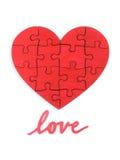 Puzzle de la forme de coeur Images stock