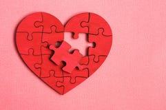 Puzzle de la forme de coeur Image libre de droits