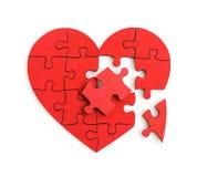 Puzzle de la forme de coeur Photographie stock libre de droits