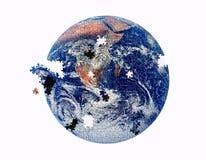 Puzzle de la terre Images libres de droits